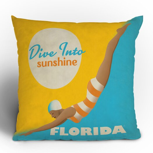 DENY Designs Anderson Design Group Dive Florida Woven Polyester Throw Pillow