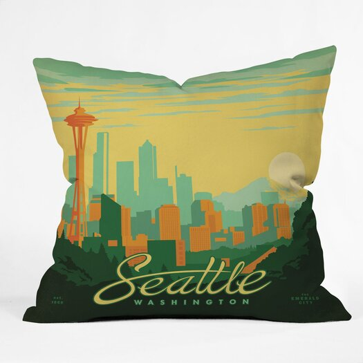 DENY Designs Anderson Design Group Seattle Woven Polyester Throw Pillow