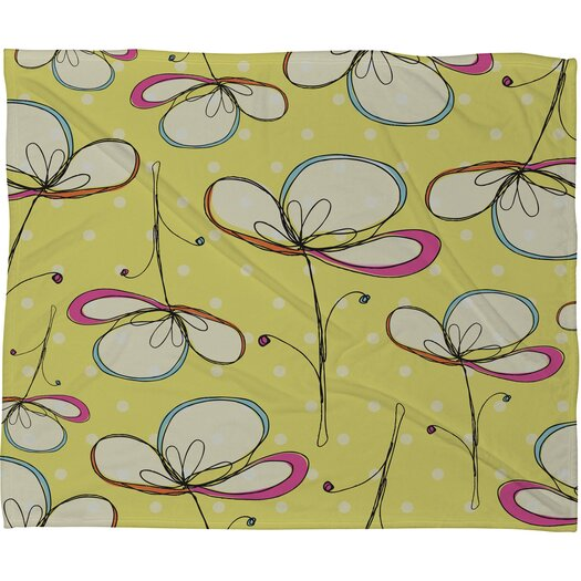 DENY Designs Rachael Taylor Floral Umbrellas Polyester Fleece  Throw Blanket