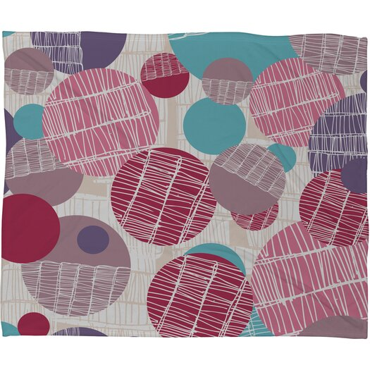 DENY Designs Rachael Taylor Textured Geo Polyester Fleece Throw Blanket