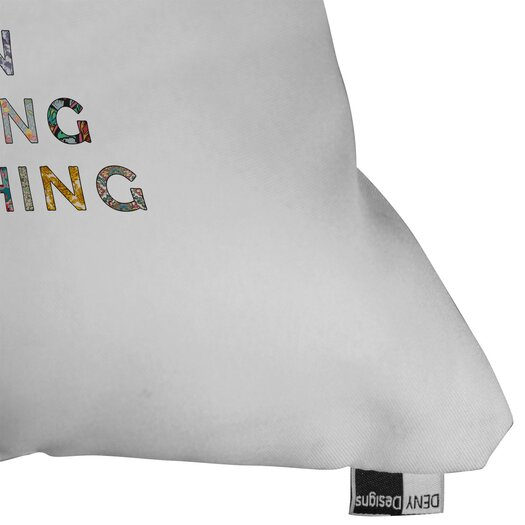 DENY Designs Bianca Green Her Daily Motivation Woven Polyester Throw Pillow