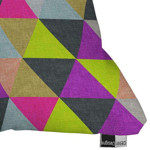 DENY Designs Bianca Green Pyramid Woven Polyester Throw Pillow