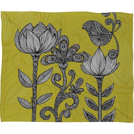 DENY Designs Valentina Ramos Green Garden Polyester Fleece Throw Blanket