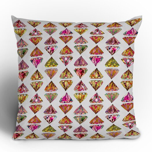 DENY Designs Bianca Green These Diamonds Are Forever Woven Polyester Throw Pillow