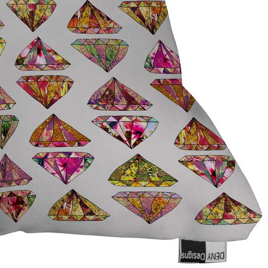 DENY Designs Bianca Green These Diamonds Are Forever Indoor/Outdoor Polyester Throw Pillow