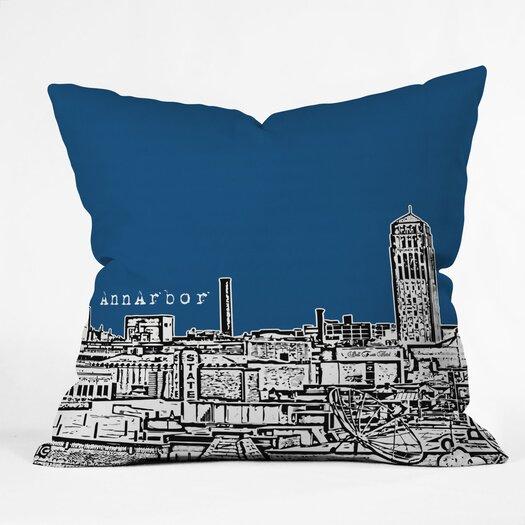 DENY Designs Bird Ave Ann Arbor Woven Polyester Throw Pillow