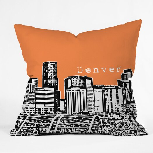 DENY Designs Bird Ave Denver Indoor/Outdoor Polyester Throw Pillow