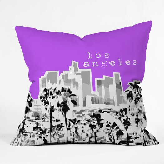 DENY Designs Bird Ave Los Angeles Woven Polyester Throw Pillow