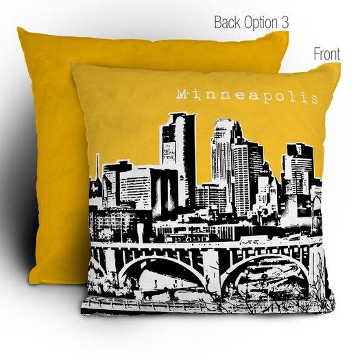 DENY Designs Bird Ave Minneapolis Woven Polyester Throw Pillow