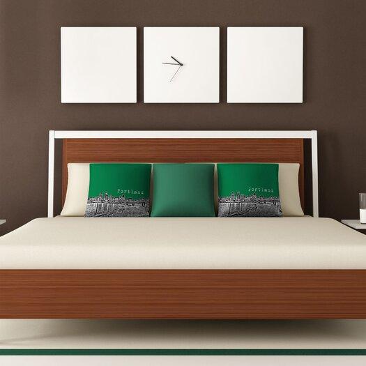 DENY Designs Bird Ave Portland Woven Polyester Throw Pillow