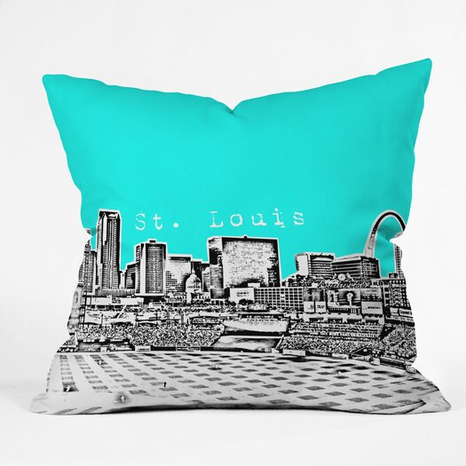 DENY Designs Bird Ave St Louis Woven Polyester Throw Pillow