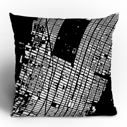 DENY Designs CityFabric Inc. NYC Midtown Woven Polyester Throw Pillow