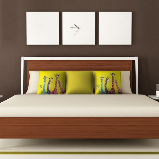 DENY Designs Clara Nilles Jellybean Giraffes Throw Pillow