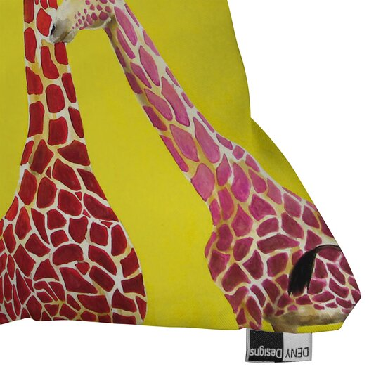 DENY Designs Clara Nilles Jellybean Giraffes Indoor/Outdoor Throw Pillow