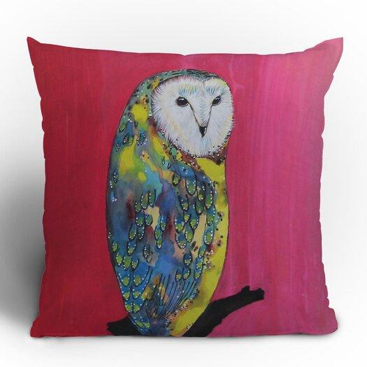DENY Designs Clara Nilles Owl on Lipstick Woven Polyester Throw Pillow