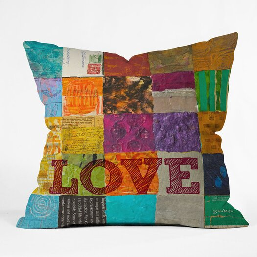 DENY Designs Elizabeth St Hilaire Nelson Love Polyester Throw Pillow