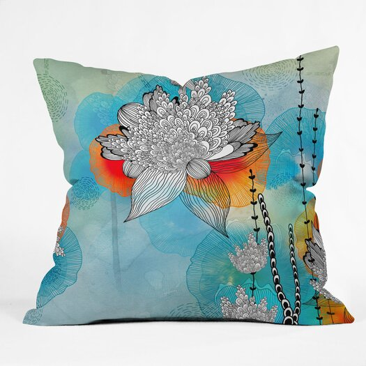 DENY Designs Iveta Abolina Coral Indoor / Outdoor Polyester Throw Pillow