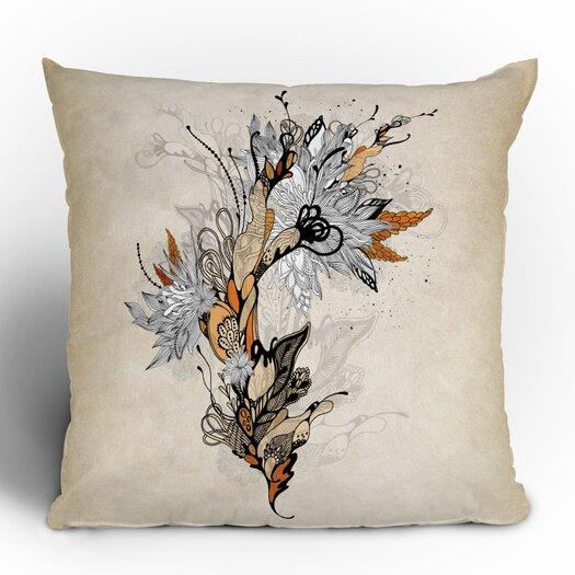 DENY Designs Iveta Abolina Floral 1 Woven Polyester Throw Pillow