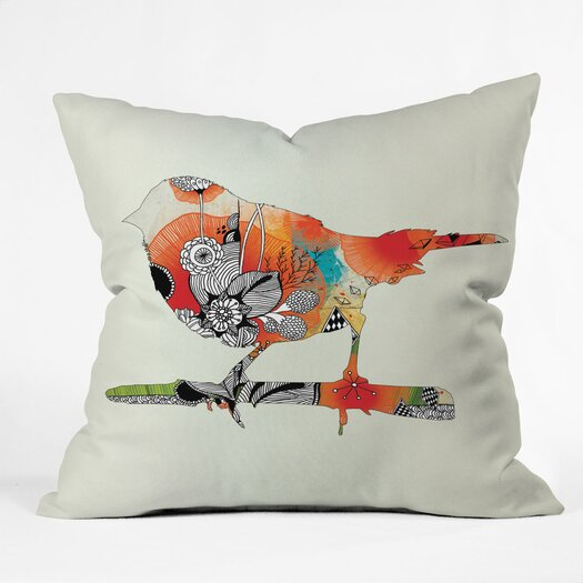 DENY Designs Iveta Abolina Little Bird Indoor / Outdoor Polyester Throw Pillow