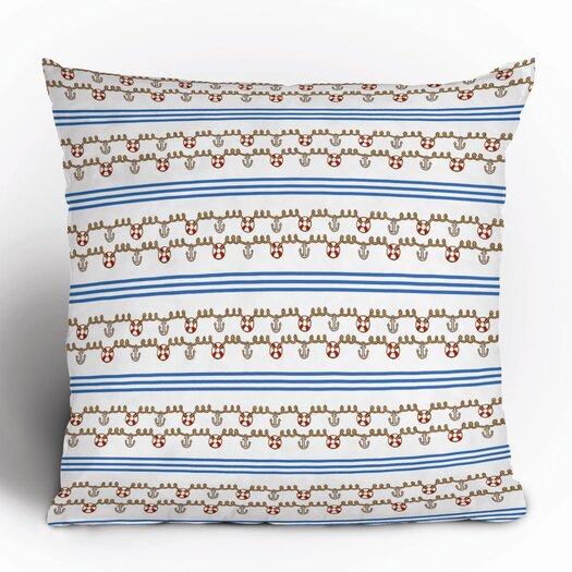 DENY Designs Jennifer Denty Anchor Polyester Throw Pillow