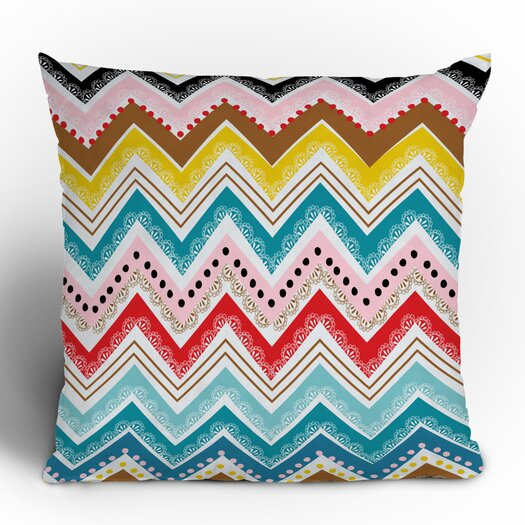 DENY Designs Khristian A Howell Nolita Chevrons Woven Polyester Throw Pillow