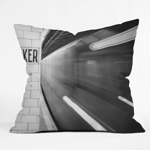 DENY Designs Leonidas Oxby The Subway Indoor / Outdoor Polyester Throw Pillow