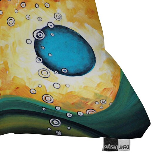 DENY Designs Madart Inc Burn Indoor / Outdoor Polyester Throw Pillow