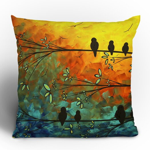 DENY Designs Madart Inc. Birds Of A Feather Woven Polyester Throw Pillow