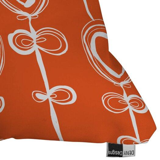 DENY Designs Rachael Taylor Contemporary Orange Woven Polyester Throw Pillow