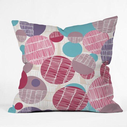 DENY Designs Rachael Taylor Textured Geo Indoor/Outdoor Polyester Throw Pillow