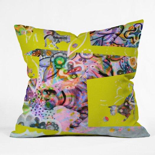 DENY Designs Randi Antonsen Cats 4 Indoor / Outdoor Polyester Throw Pillow