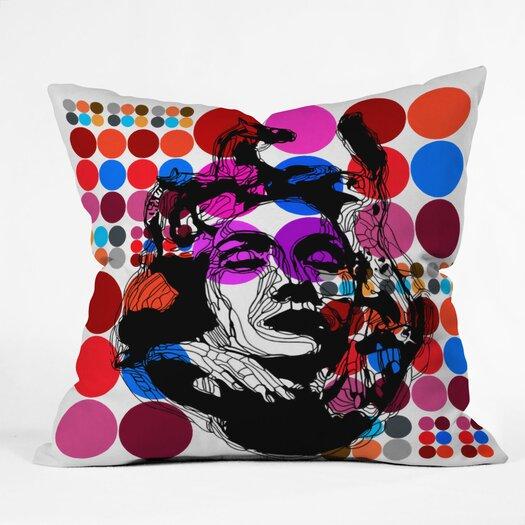 DENY Designs Randi Antonsen Poster Heroins 6 Polyester Throw Pillow
