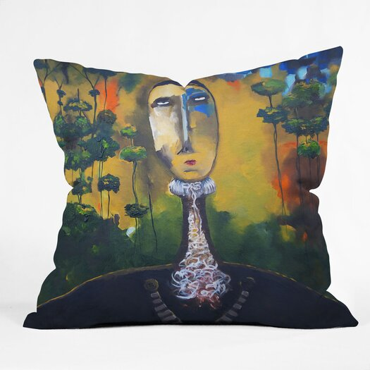 DENY Designs Robin Faye Gates Polyester Forest for Trees Indoor / Outdoor Throw Pillow