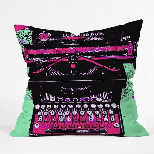 DENY Designs Romi Vega Polyester Typewriter Indoor / Outdoor Throw Pillow