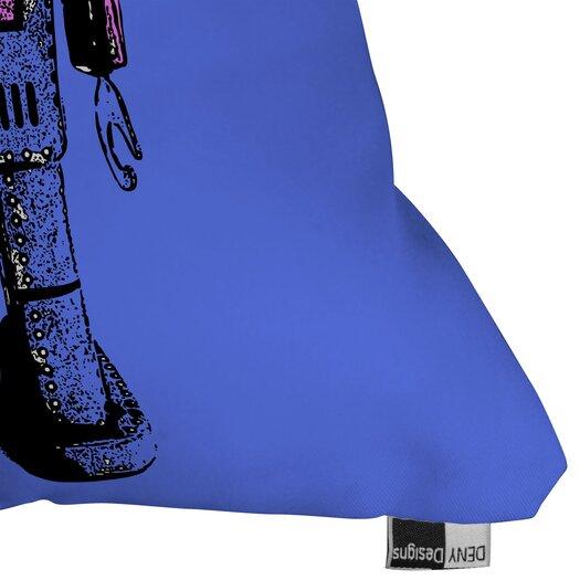 DENY Designs Romi Vega Lantern Robot Indoor/Outdoor Polyester Throw Pillow