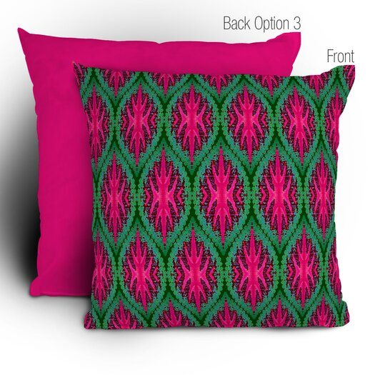 DENY Designs Wagner Campelo Ikat Leaves Polyester Throw Pillow