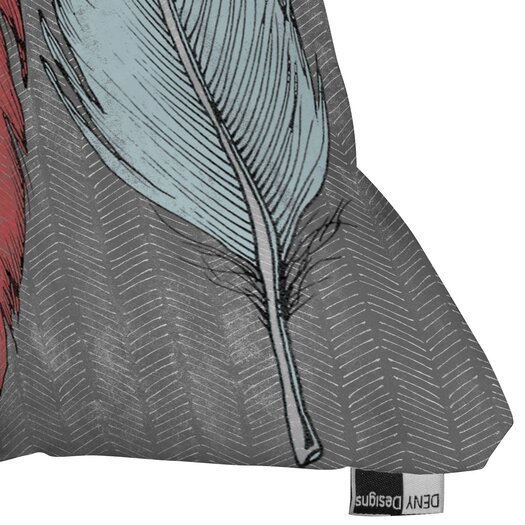 DENY Designs Wesley Bird Feathered Indoor/Outdoor Polyester Throw Pillow