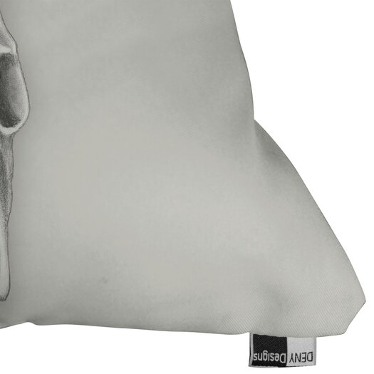 DENY Designs Wesley Bird Skull Polyester Throw Pillow