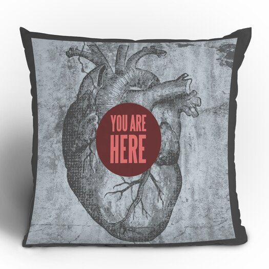 DENY Designs Wesley Bird You Are Here Polyester Throw Pillow