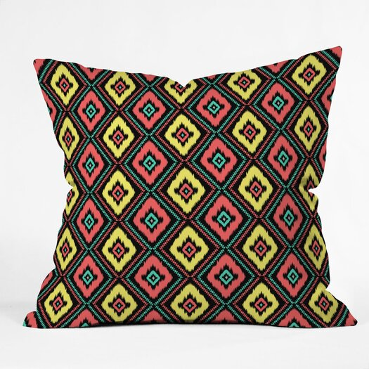 DENY Designs Jacqueline Maldonado Zig Zag Ikat Indoor / Outdoor Polyester Throw Pillow