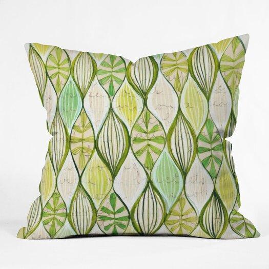 DENY Designs Cori Dantini Green  Polyester Throw Pillow