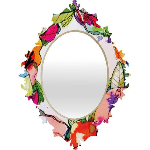 DENY Designs CayenaBlanca Floral Frame Baroque Mirror