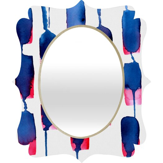 DENY Designs CMYKaren Color Run Quatrefoil Mirror