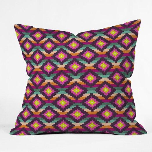 DENY Designs Bianca Green Aztec Diamonds Hammock Polyester Throw Pillow