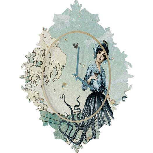 DENY Designs Belle 13 Sea Fairy Wall Clock