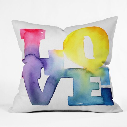 DENY Designs CMYKaren Love 4 Polyester Throw Pillow