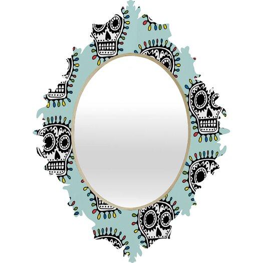 DENY Designs Andi Bird Sugar Skull Fun Baroque Mirror