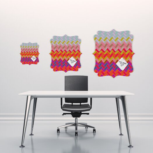 DENY Designs Sharon Turner Geo Chevron Quatrefoil Memo Board
