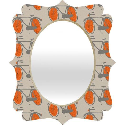 DENY Designs Mummysam Bicycles Quatrefoil Mirror