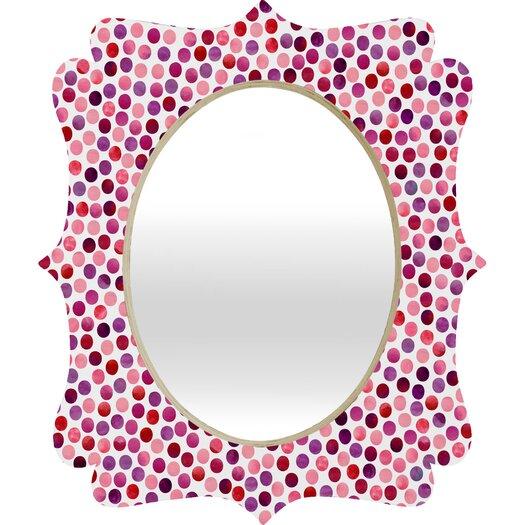DENY Designs Garima Dhawan Dots Berry Quatrefoil Mirror